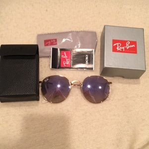 PURPLE  AND GOLD RAY BAN ROUND FRAME AVIATORS